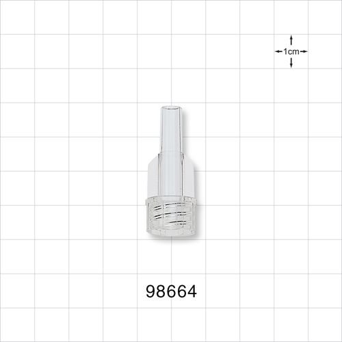 Large-Bore Male Connector, Clear - 98664