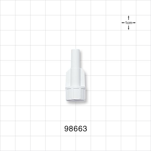 Large-Bore Male Connector, White - 98663