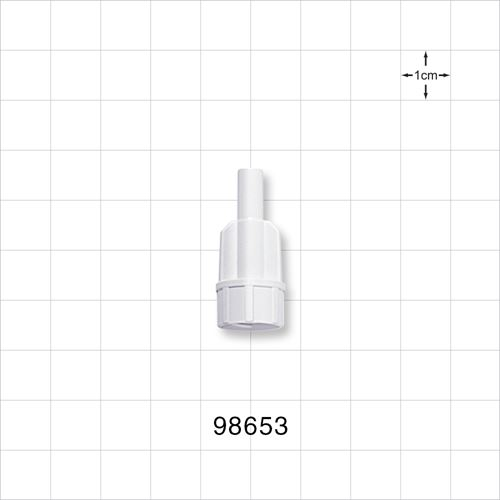 Large-Bore Male Connector, High Quality, White - 98653