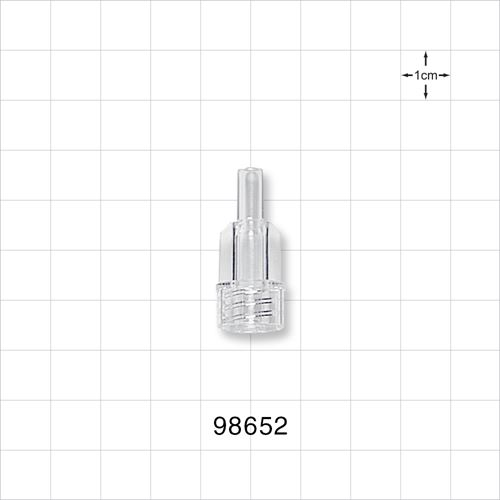 Large-Bore Male Connector, Clear - 98652