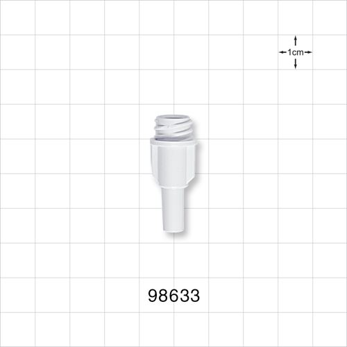 Large-Bore Female Connector, High Quality , White - 98633