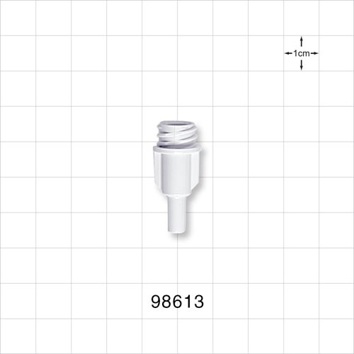 Large-Bore Female Connector, White - 98613