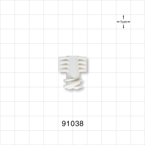Female Vented Cap for 6.8 mm Male Connector, White - 91038