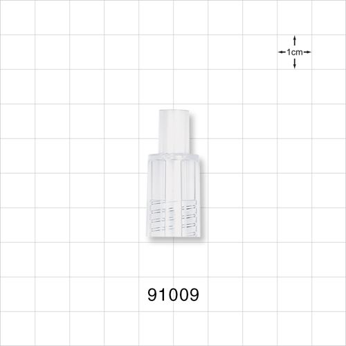 """Shielded Male Connector to fit .250"""" (1/4"""") OD Tubing - 91009"""