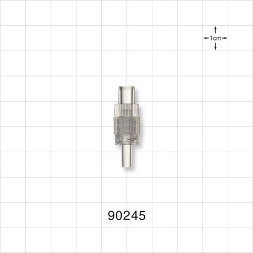 Male Luer Lock Connector with Clear Spin Lock - 90245