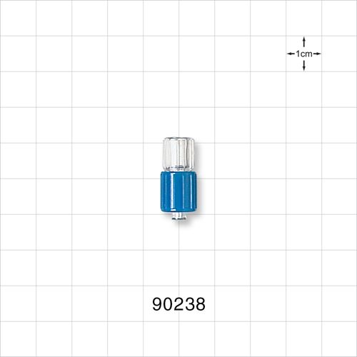 Male Luer Connector with Blue Spin Lock - 90238