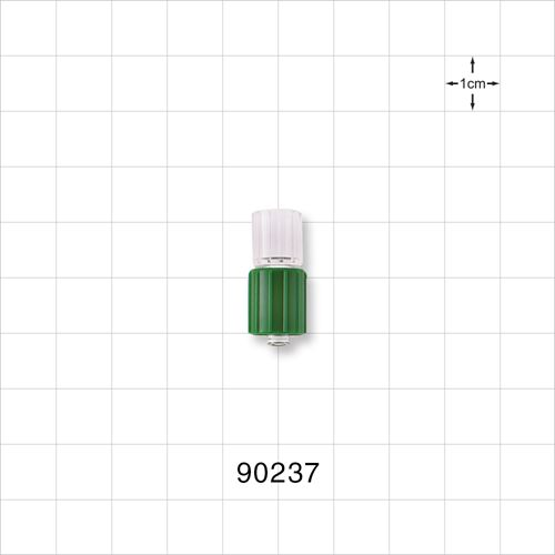 Male Luer Connector with Green Spin Lock - 90237