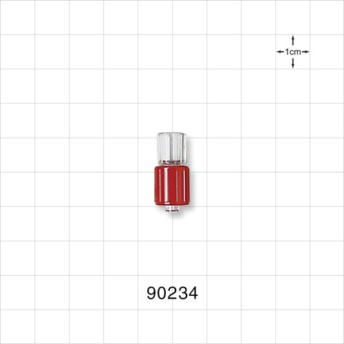 Male Luer Connector with Red Spin Lock - 90234