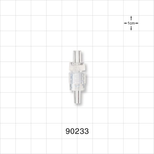 Male Luer Connector with Clear Spin Lock - 90233