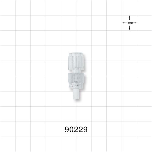Male Luer Connector with Clear Spin Lock - 90229