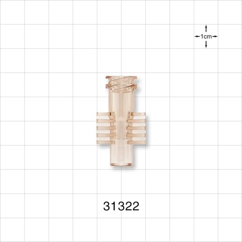 Dialysis Connector, Clear - 31322