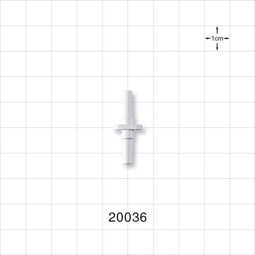 Male Slip to Male Slip Connector, White - 20036