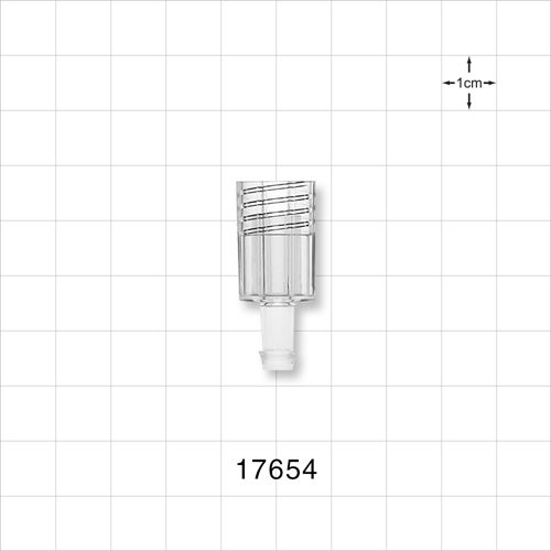 "Shielded Female Barbed Connector to fit .250"" (1/4"") ID Tubing - 17654"