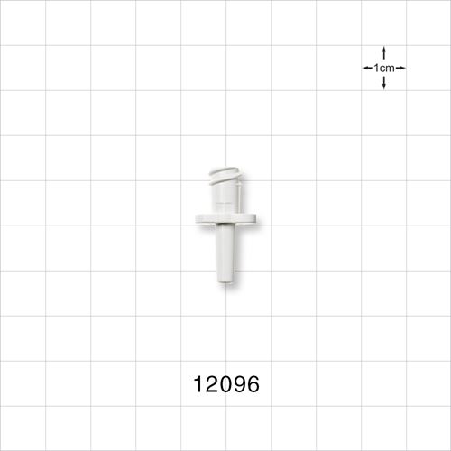Female Luer Lock Connector, Natural - 12096