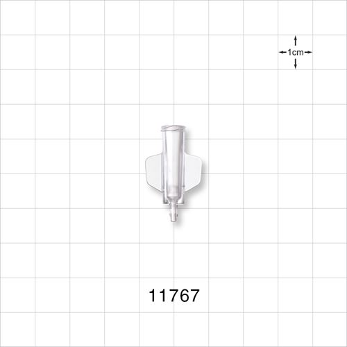 Female Luer Lock to Barb Connector with Wings - 11767