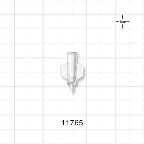 Female Luer Lock to Barb Connector with Wings - 11765