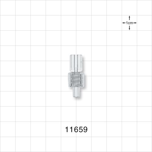 Bifurcated Male Luer Connector with Spin Lock - 11659