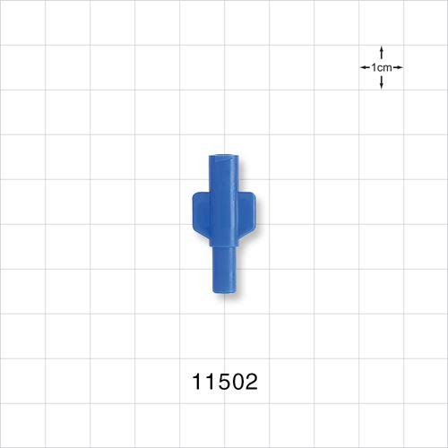 Female Luer Lock Connector, Blue - 11502