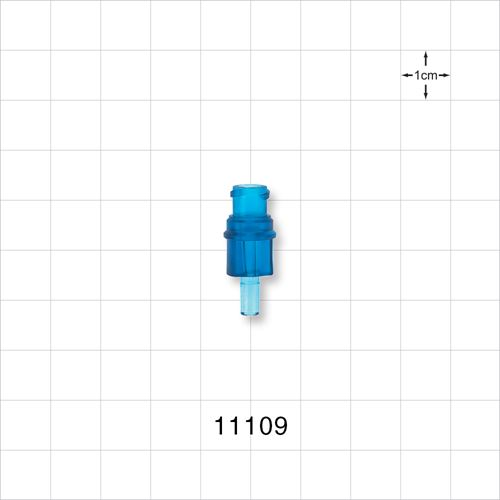 Female Luer Connector, Blue - 11109