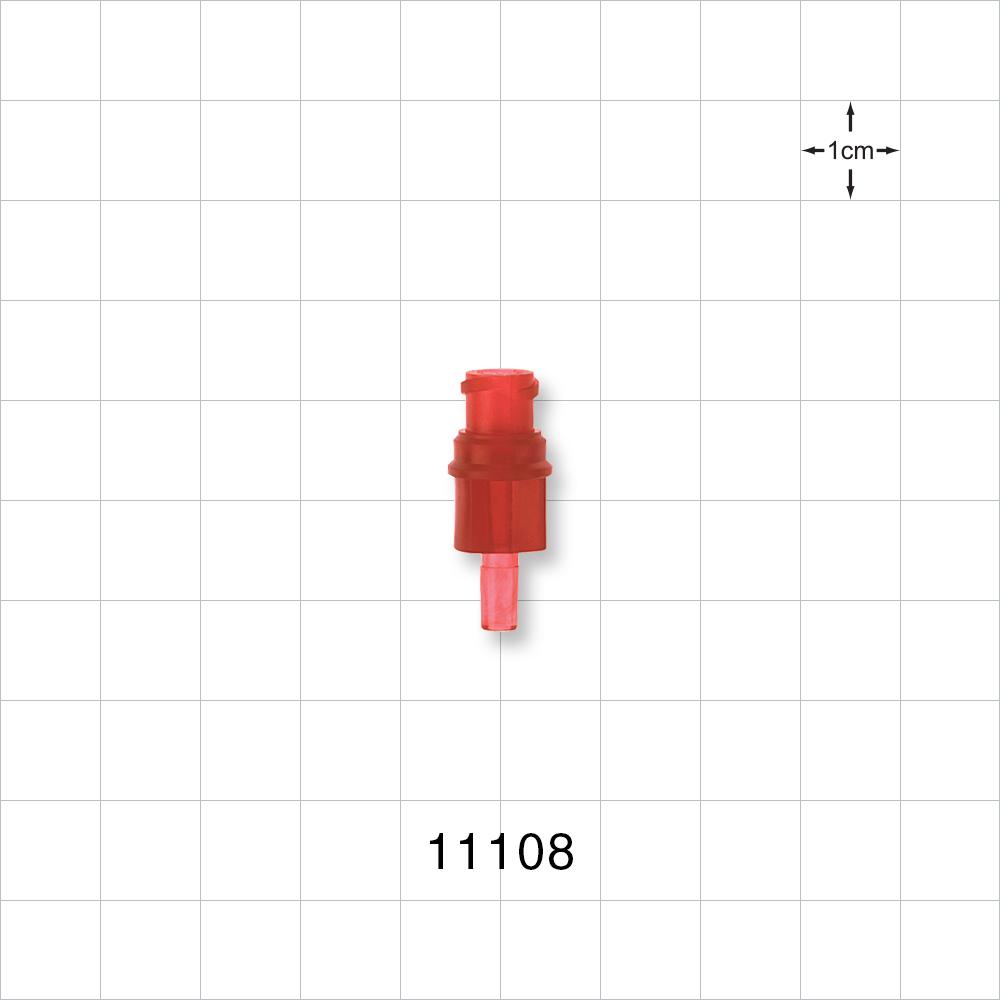 Female Luer Connector Red 11108 Qosina
