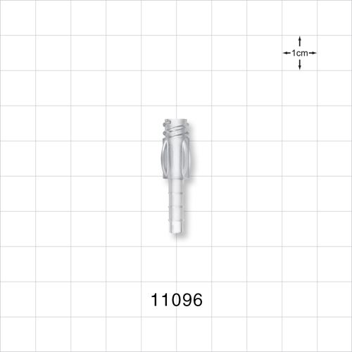 Female Luer Lock with Finger Grips, Clear - 11096