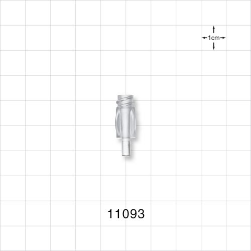 Female Luer Lock Connector with Finger Grips, Clear - 11093