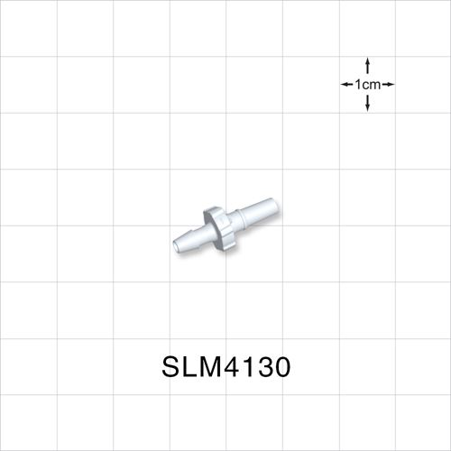 Male Luer Slip to Barb, White - SLM4130
