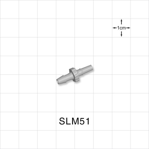 Male Luer Slip to Barb, Natural - SLM51