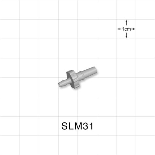 Male Luer Slip to Barb, Natural - SLM31