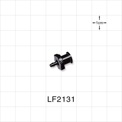 Female Luer Lock to Barb, Black - LF2131