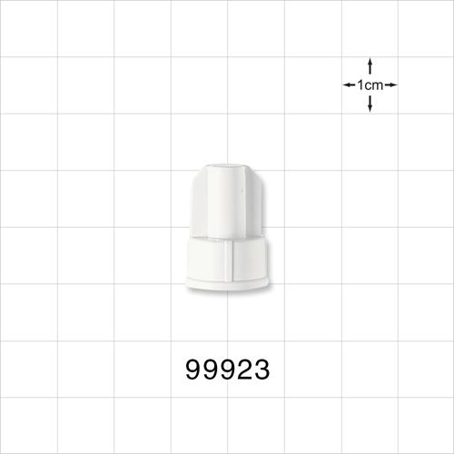 Large-Bore Male Cap, Non-Vented, White - 99923