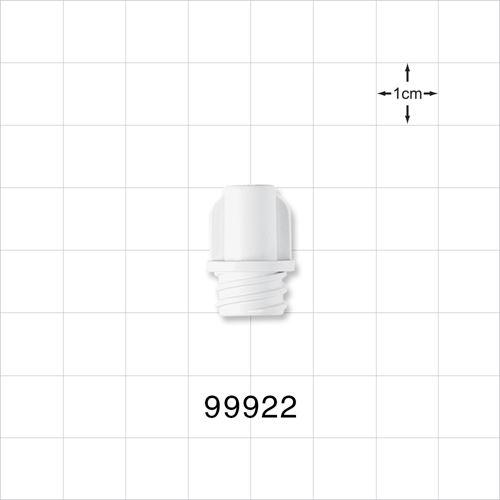Large-Bore Female Cap, Non-Vented, White - 99922