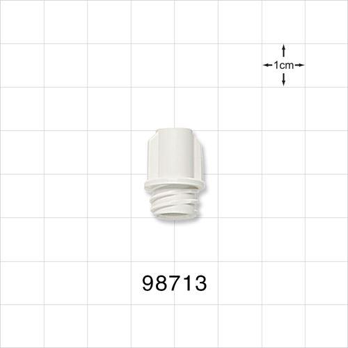 Large-Bore Female Cap, Non-Vented, White - 98713