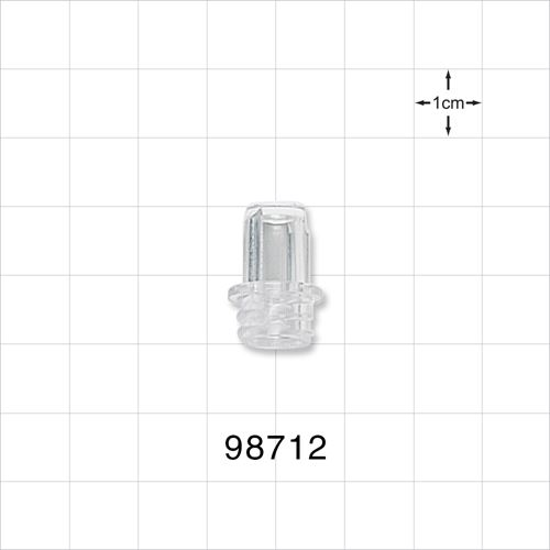 Large-Bore Female Cap, Non-Vented, Clear - 98712