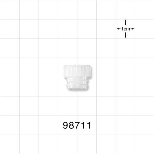 Large-Bore Female Cap, Vented, Natural - 98711