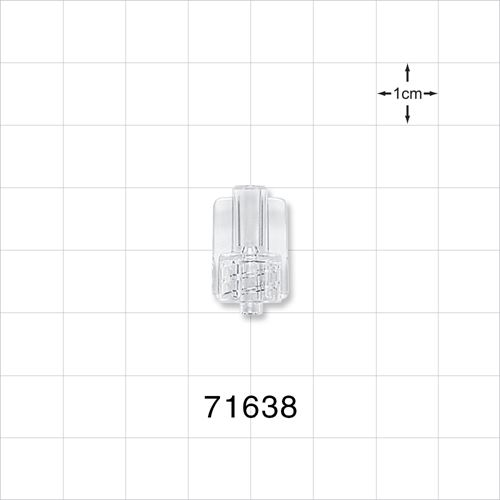 Male Luer Connector with Tubing Pocket, Clear - 71638