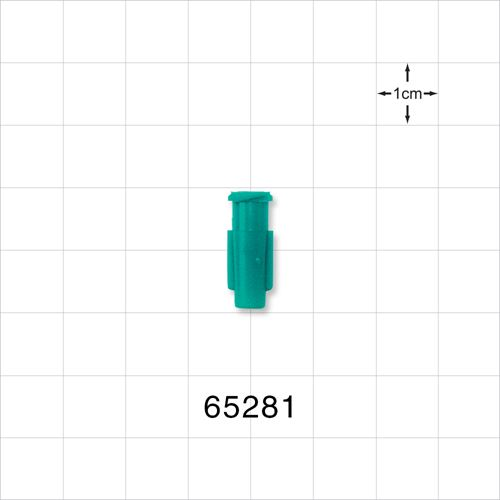 Tapered Female Luer Lock Connector, Teal - 65281