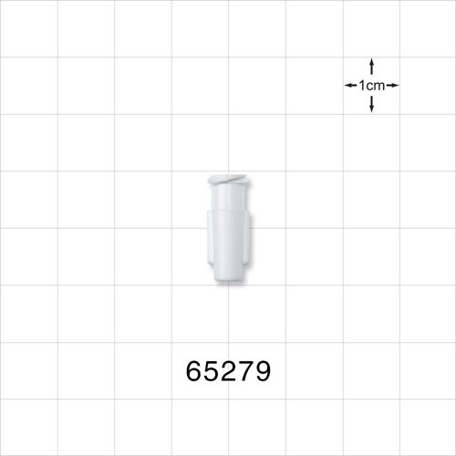 Tapered Female Luer Lock Connector, White - 65279