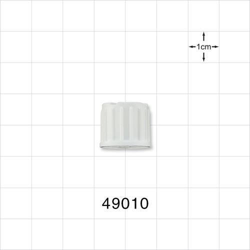 Vented Cap for Dialysis Connector, White - 49010