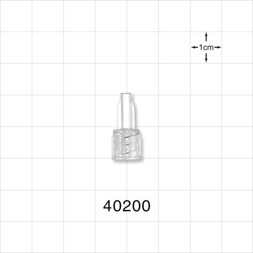 Male Lock NRFit™ Connector, Clear - 40200