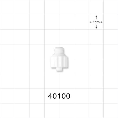 Male Luer Lock Connector, White - 40100