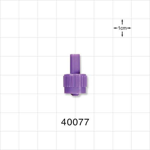 Male ENFit™ Connector, Purple - 40077