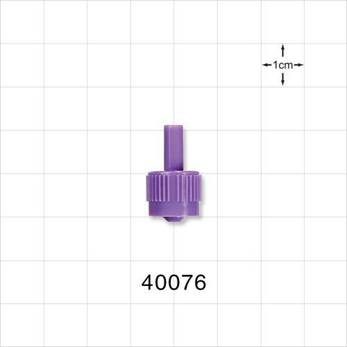 Male ENFit™ Connector, Purple - 40076