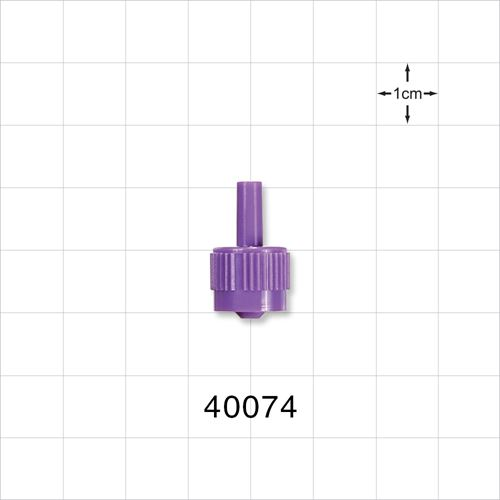 Male ENFit™ Connector, Purple - 40074