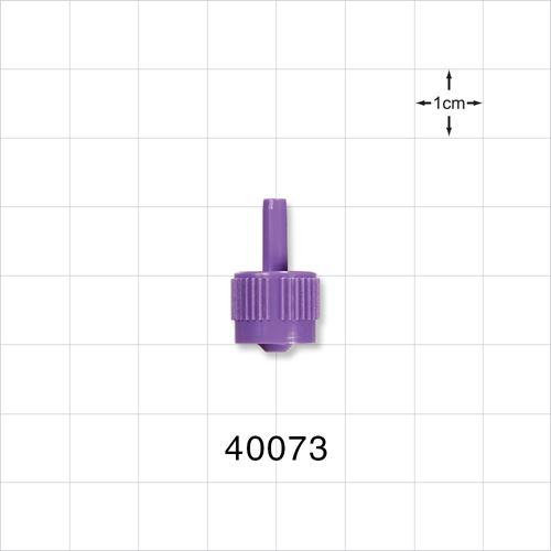 Male ENFit™ Connector, Purple - 40073