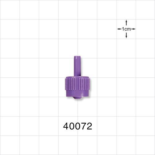Male ENFit™ Connector, Purple - 40072