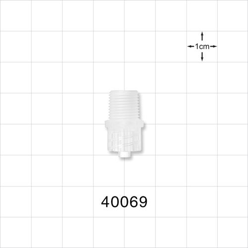 Male Luer Lock Connector, Natural - 40069