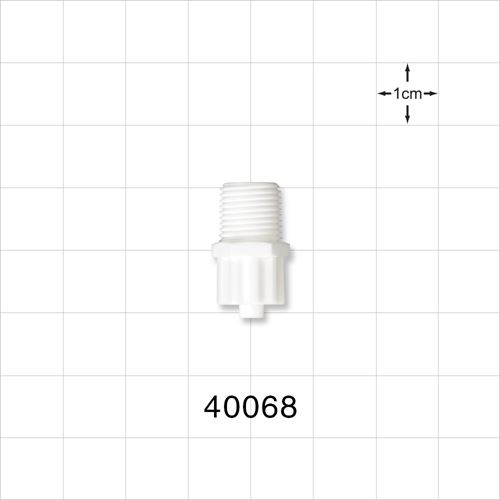 Male Luer Lock Connector, White - 40068