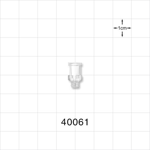 Female Luer Lock Connector, Clear - 40061