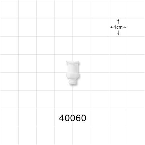 Female Luer Lock Connector, White - 40060